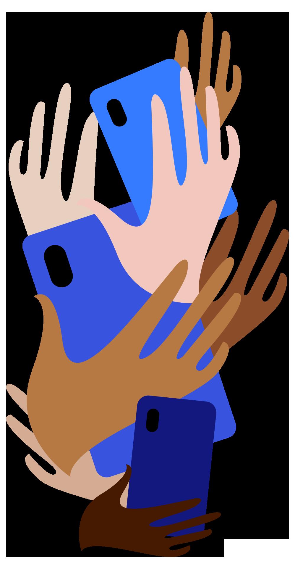 Fractie van aandacht - handen